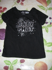 футболка baby phat 3-4 года,  100% хлопок. надпись из пайеток.