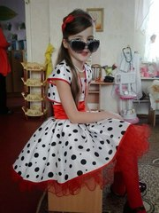 Детское платье в ретро стиле,  кукла,  божья коровка,  мухоморчик -прокат