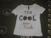 супер классная футболка next на 6 лет.