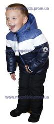 Зимняя одежда для мальчиков. Куртка с подстёдкой и полукомбинезон