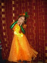 Платье Осень,  Лисичка,  белочка,  Морковка,  Тыковка