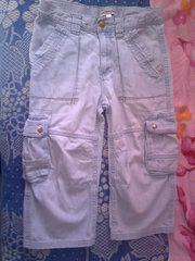 Джинсовые штанишки с карманами, голубые на 3, 4 года