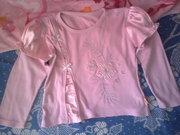 Реглан розовый с фонариками на 3, 4 года