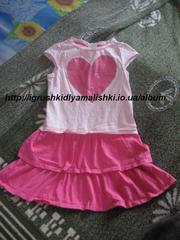 очень красивое платье с сердцем crazy 8 на 7-8 лет