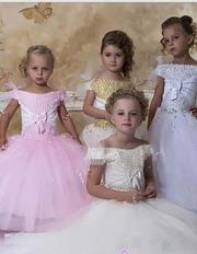 Детское платье,  новое,  айвори,  38