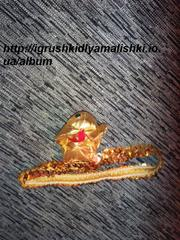 украшение на голову для карнавального наряда Змеи,  Золотой кобры