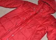 Красный плащ-пуховик для девочки